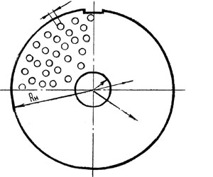 Решётка D130 отв. 20 мм