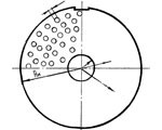 Решётка с отв. 2 мм для волчка Ø200 мм